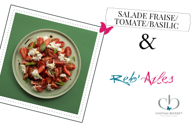 Reb'Ailes : Salade fraise, tomate et basilic