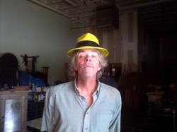 Buzz in hat