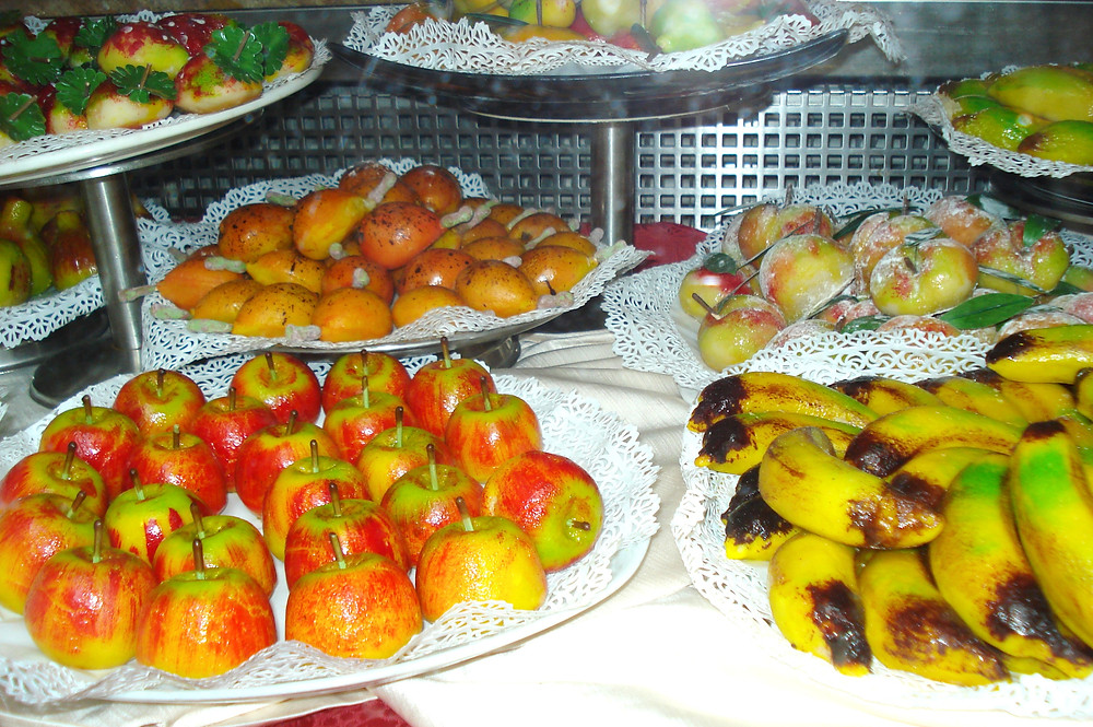 Marzipan display in Sicily