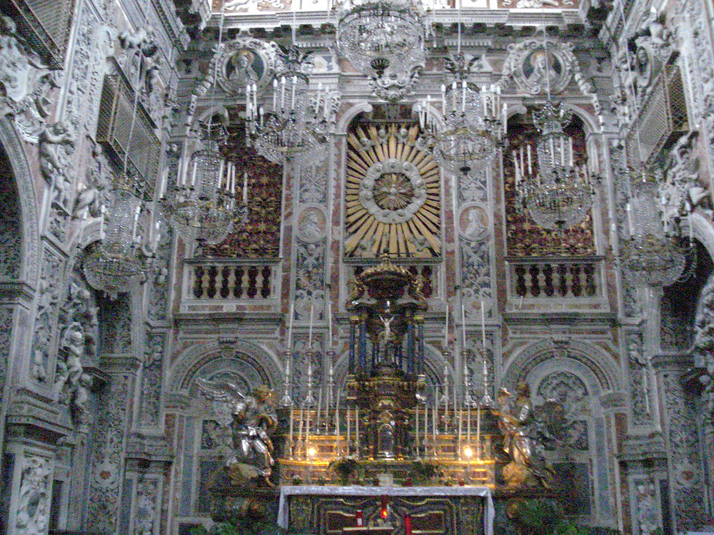 Ornate cathedral in Palermo, Sicily's capital
