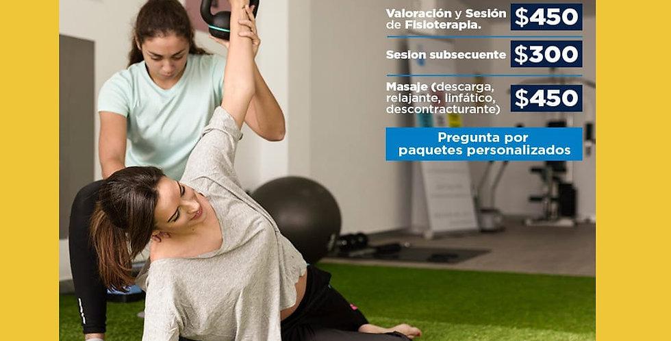 Valoración y Sesión de Fisioterapia