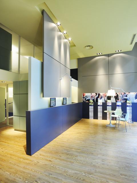 architecture intérieure pour l'agence Fortuneo