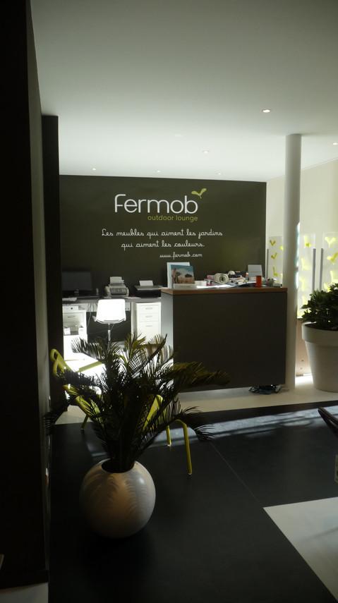 accueil du magasin Fermob