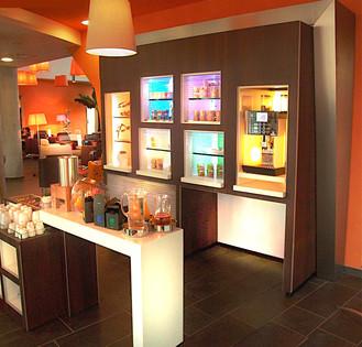 Création du concept de l espace petit déjeuner Suite Hotel