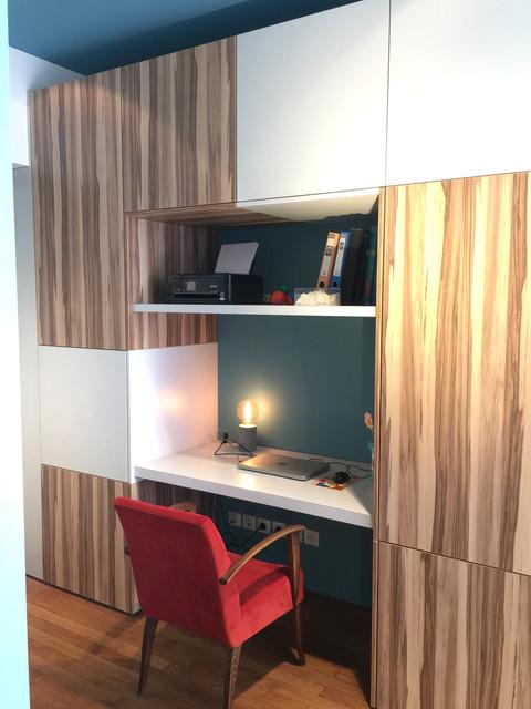 bureau : différents revetements de bois stratifiés