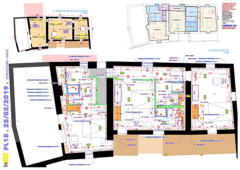 une esquisse détaillée en phase APD etage