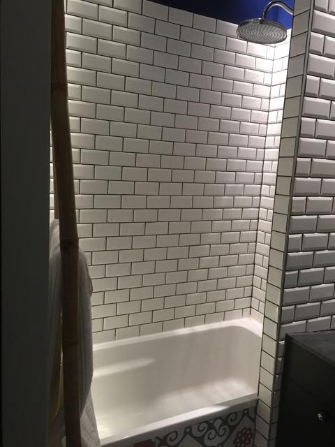 baignoire carrelage métro