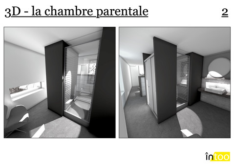 salle de bain parentale lumineuse