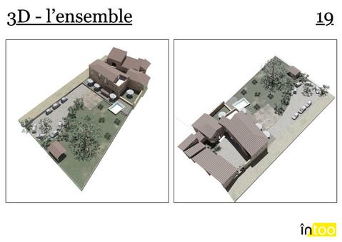rénovation extérieure de la maison avec parking