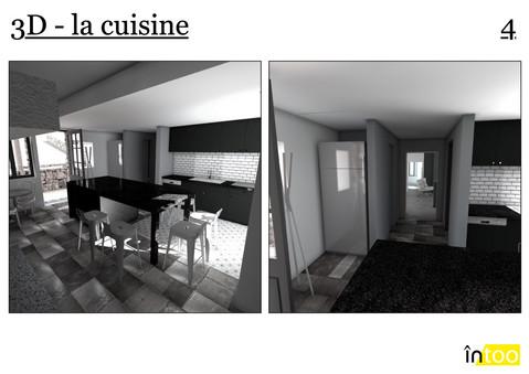 cuisine ouverte 2 avec ilôt central