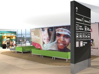 Amenagement des espaces de détente à aéroport de Lyon - projet en cours