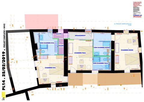 plan d'esquisse phase APS etage