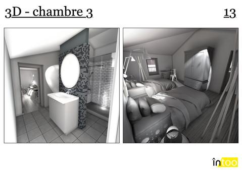 chambre enfant 2 personnalisée avec salle de bain