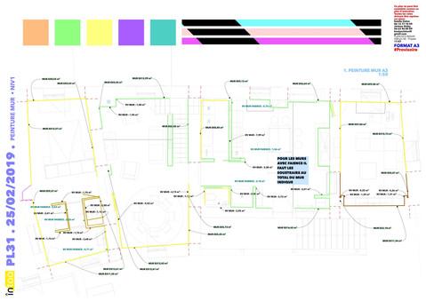 plan de peinture des murs rdc