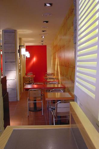 Architecture interieure du restaurant Viaggio
