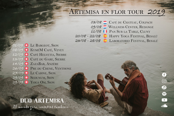 DUO ARTEMISA FLYER TOUR 2019 AGOSTO Y SE