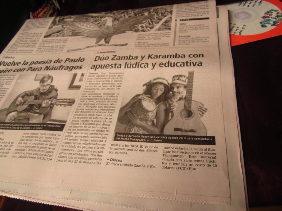 Nota en Diario EL TIEMPO