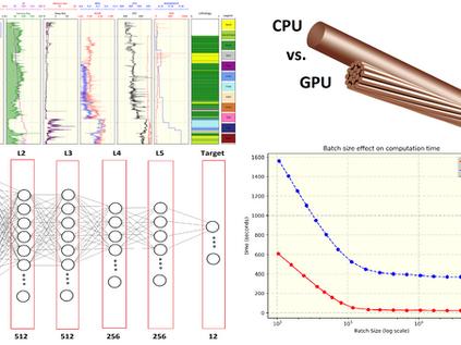 CPU vs. GPU : Computation Time Test on Tabular Well Log Data