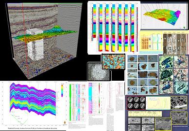 Geological data interpretation and modeling, geostatistics