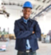 Factory worker in workplace
