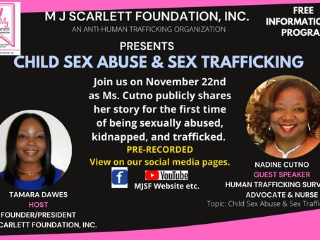 A Child Abuse & Sex Trafficked Survivor's Story