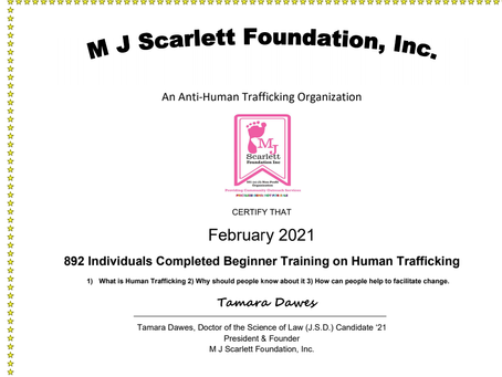 EBRUARY 892 individuals trained!