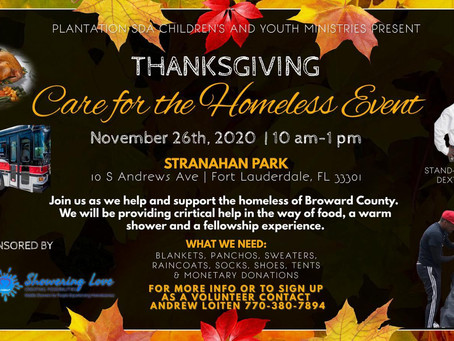 Care for the Homeless Thanksgiving Event