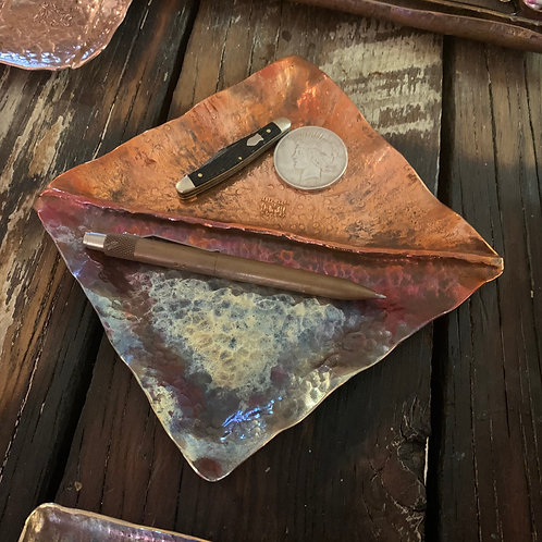 Recycled Copper Handmade Tray 4x4