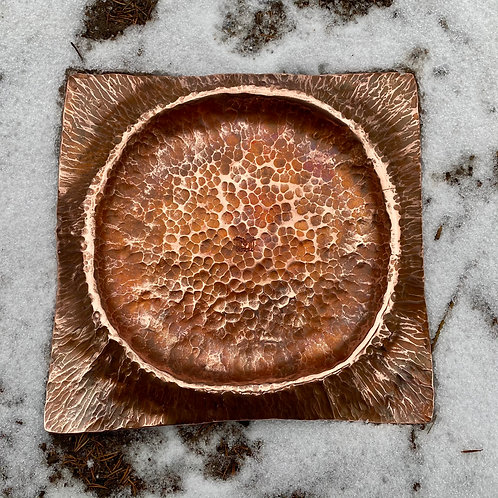 9x9 Hand Forged Moon Copper Tray