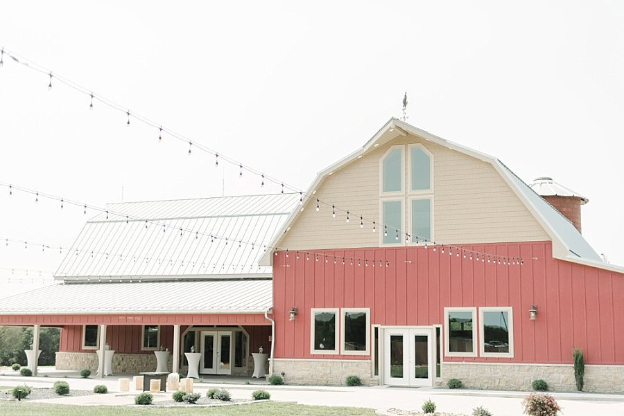 Outdoor patio at Red Oak Valley's rustic barn