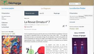 LA REVUE DECHARGE PARLE D'ORNATA