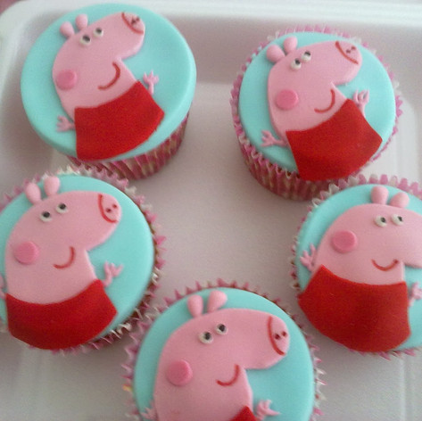 cup cake pepa pig