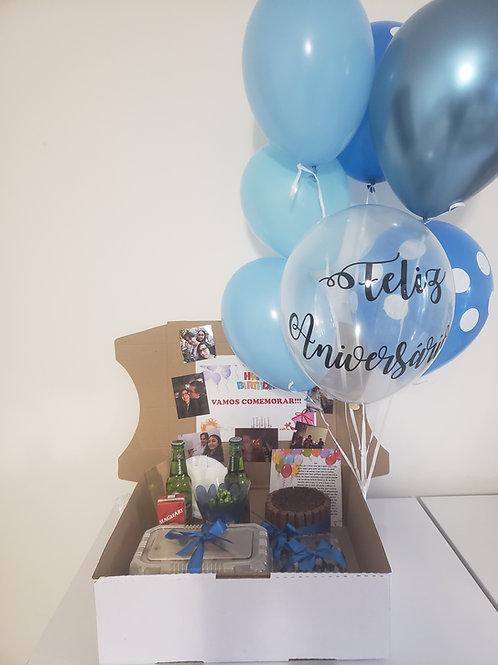 Festa na Caixa com Bouquet Balões Hélio