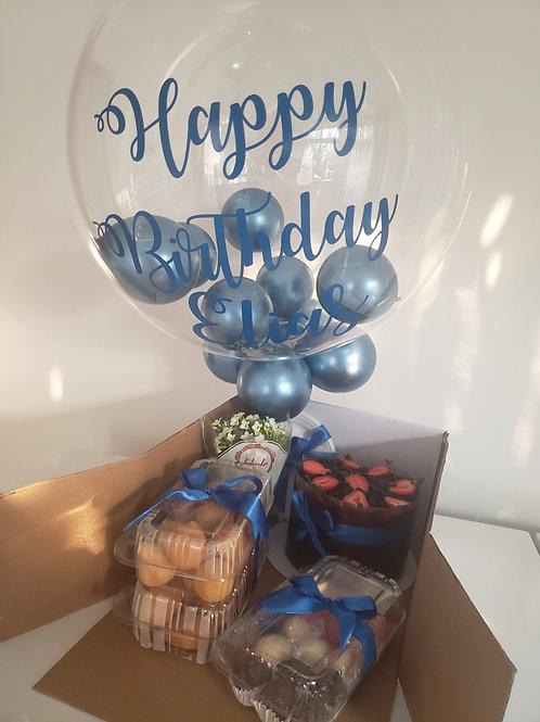 Festa na Caixa com Balão Bubbble