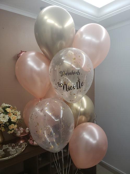 Arranjo de Balões Hélio
