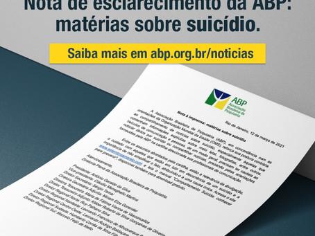 Nota de esclarecimento: matérias sobre suicídio