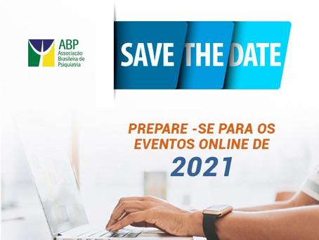 Save the date: confira o calendário de eventos científicos da ABP!