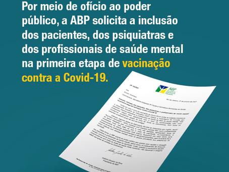 ABP solicita inclusão de pacientes e trabalhadores de saúde mental na primeira etapa da vacinação
