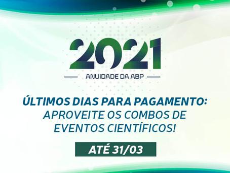 Pague a Anuidade 2021 e aproveite os combos de eventos científicos!