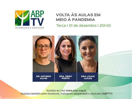 ABPTV debate a volta às aulas em tempos de pandemia