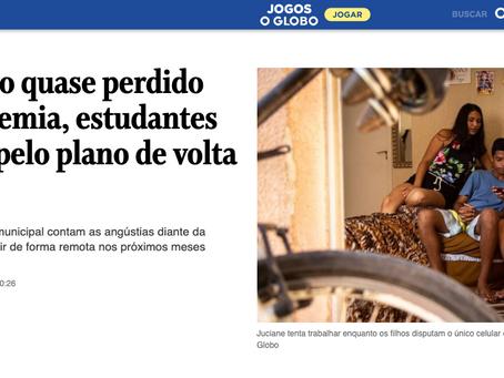 Saúde mental dos estudantes é matéria do Jornal O Globo