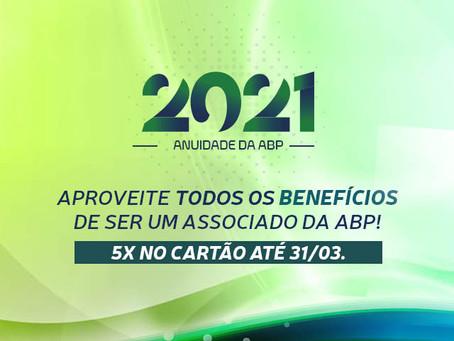 Anuidade 2021: 5x no cartão até 31/03!