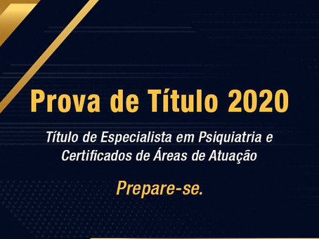 Candidato, prepare-se para a Prova de Título 2020!