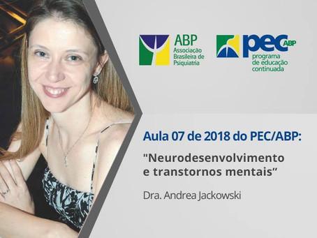 """""""Neurodesenvolvimento e transtornos mentais"""" é tema de aula do PEC/ABP"""