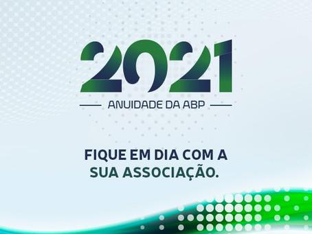 Anuidade 2021: fique em dia com a sua Associação