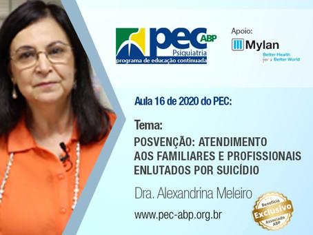 Aula do PEC aborda a posvenção: atendimento aos enlutados por suicídio