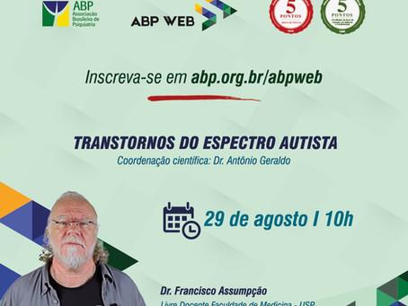 """""""Transtorno do espectro autista"""" é tema da próxima aula ABP Web"""