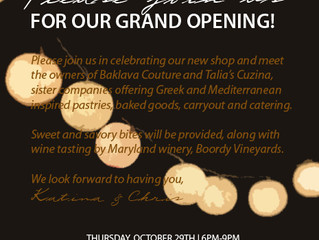 Grand Opening of Baklava Couture & Talia's Cuzina - Kensington Maryland