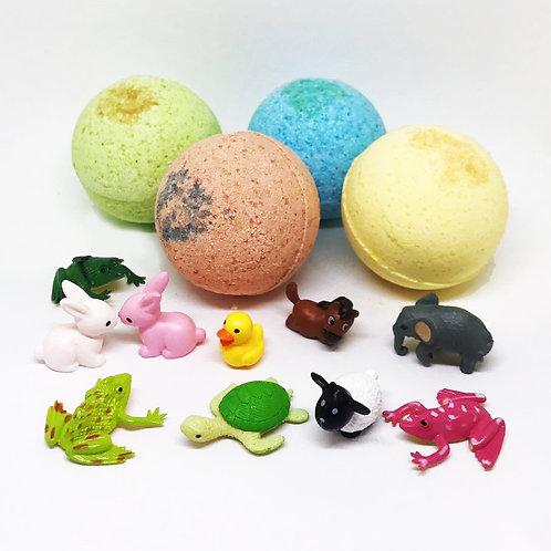 Animals Toy Bath Bomb TOY! 3 oz BOMB Surprise! Wholesale