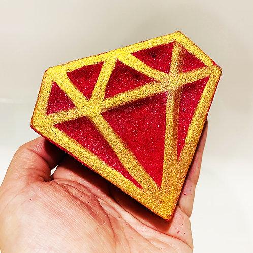 Diamond Bath Bomb (Prosecco Raspberry)